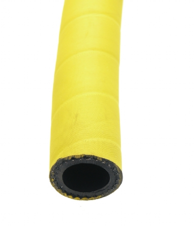 Click to enlarge - High pressure, steel wire reinforced air hose. Also suitable for high pressure water and slurries. This very robust hose would be used on high volume compressors in construction, mines and industrial applications. A hose for use where maximum safety is required.