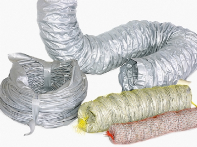 Click to enlarge - Lightweight ducting hose used mainly as a flexible connection between grilles, diffusers, fans etc.