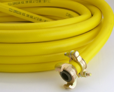 Click to enlarge - Rubber PVC alloy (TPE) hose is a relatively new innovation combining the best properties of rubber and PVC in a single extruded hose.