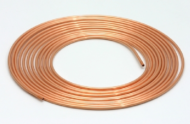 Click to enlarge - Imperial and metric soft copper tubing is stocked in 10 metre or 30 metre coils. This tubing is fully annealed allowing very tight bends to be formed and the ends to be easily flared.