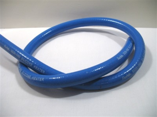 Click to enlarge - Highly flexible silicone hose with a polyester reinforcement designed for heating and cooling equipment. This hose a smooth cover and very smooth liner making it easy to cut and fit.