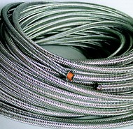 Click to enlarge - Long length propane cutting hose, with galvanised protective braid.