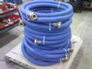 Click to enlarge - Food quality hose designed for use with fatty foodstuffs and alcoholic beverages. Flexible and tough, the cover is abrasion, ozone and oil resistant.