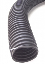 Click to enlarge - Hose primarily designed for use in garage workshops for the extraction of exhaust fumes. Can be used on the floor as this hose is crush recoverable. Has an external abrasion resistant wearstrip.