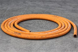 Click to enlarge - Orange brewers hose made from FDA approved materials. Used for water lines in induction furnaces. For use in all brewery installations and applications requiring a high quality drinking water hose.